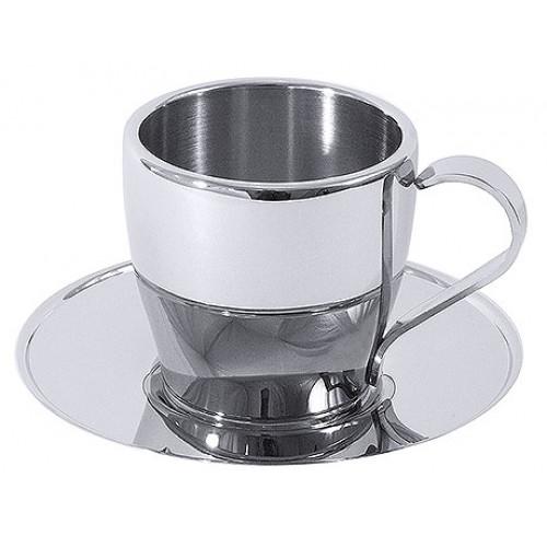 Dupla falu cappuccinós csésze + alj, 0,18 L