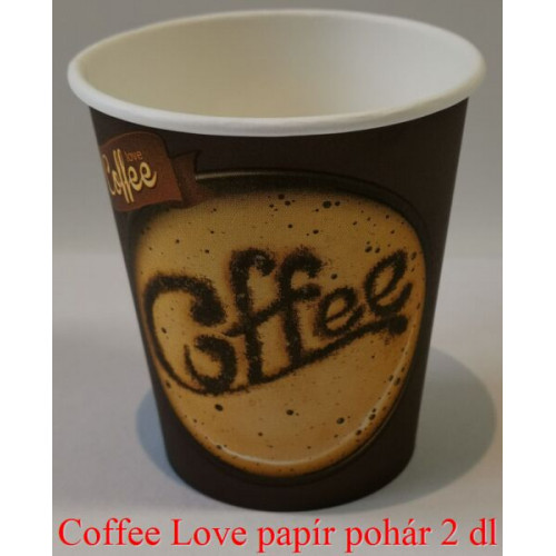 Coffee Love papírpohár 2 dl