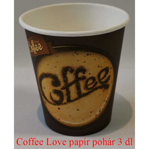 Coffee Love papírpohár 3 dl