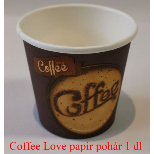 Coffee Love papírpohár 1 dl